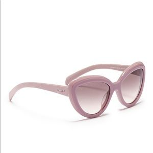 Prada Colourblock Acetate Cat Eye Sunglasses